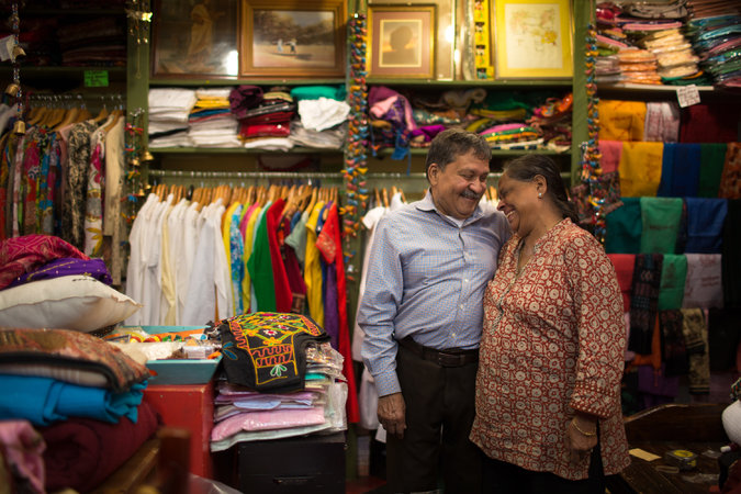 Purushottam Goyal and Saroj Goyal have been married for 46 years. Credit Santiago Mejia/The New York Times