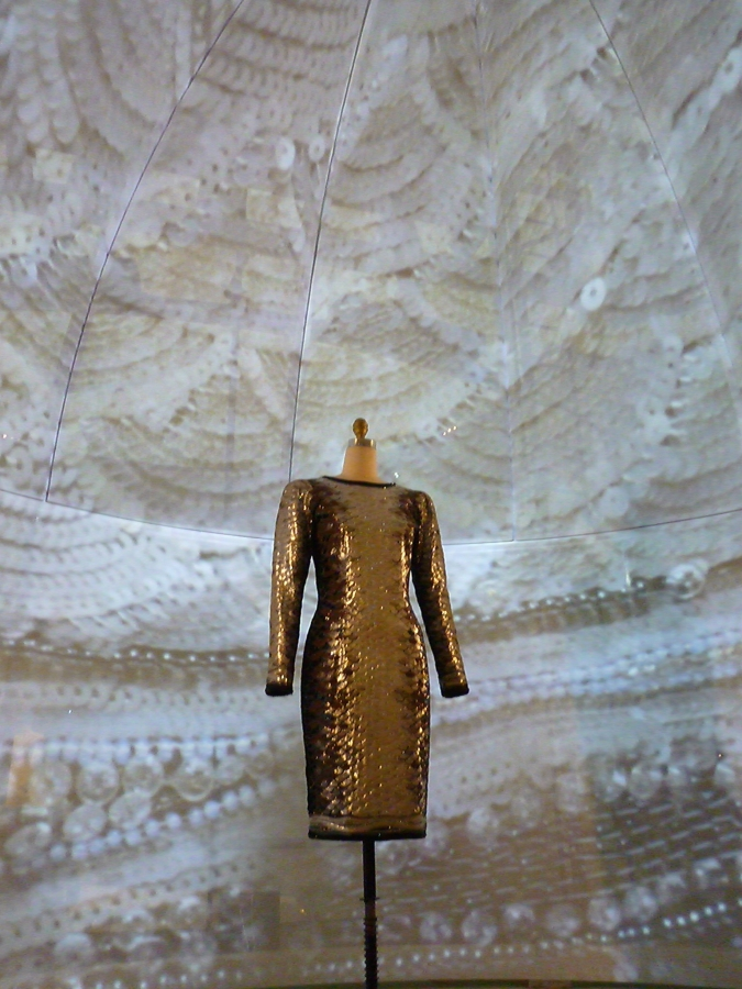 "The Yves Saint Laurent ""Sardine"" dress from the 1983 couture show that took 1,500 hours to complete"