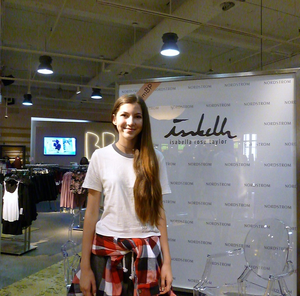 Isabella Rose Taylor at the launch of her collection: Nordstrom BP