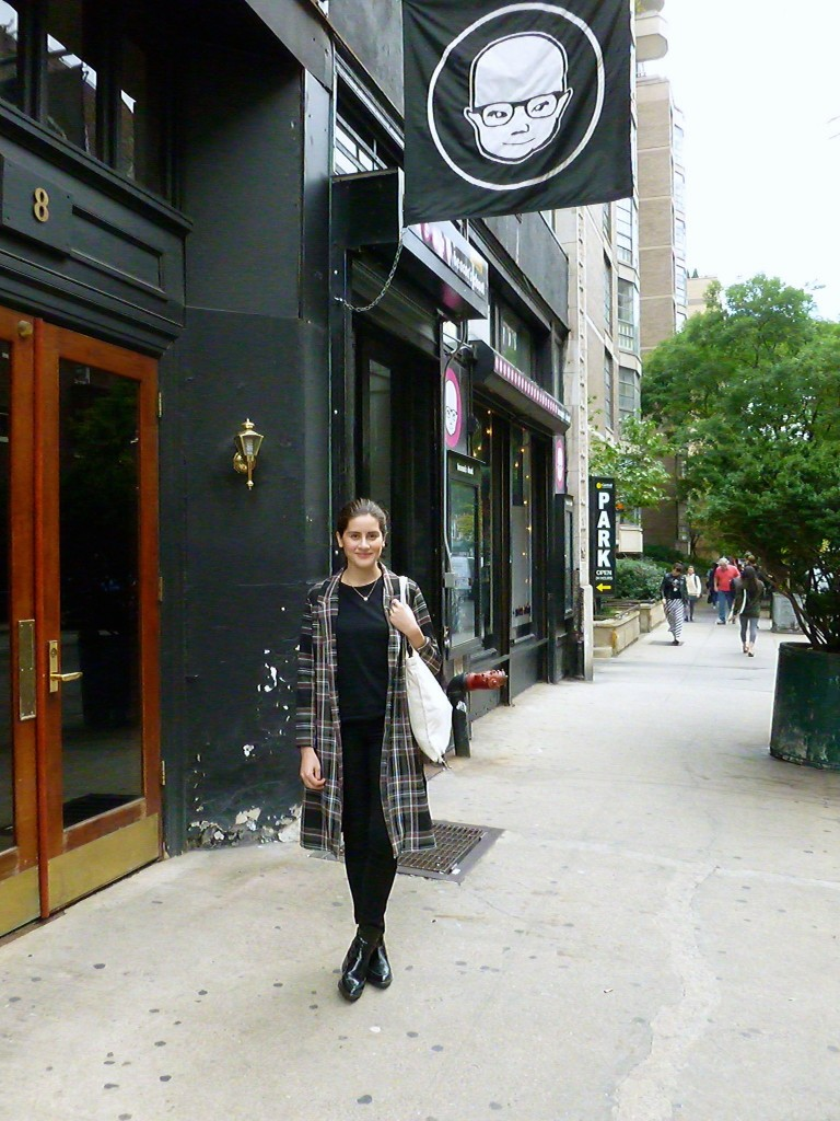 Lauren Singer, outside her favorite vintage shop in NYC: Beacon's Closet