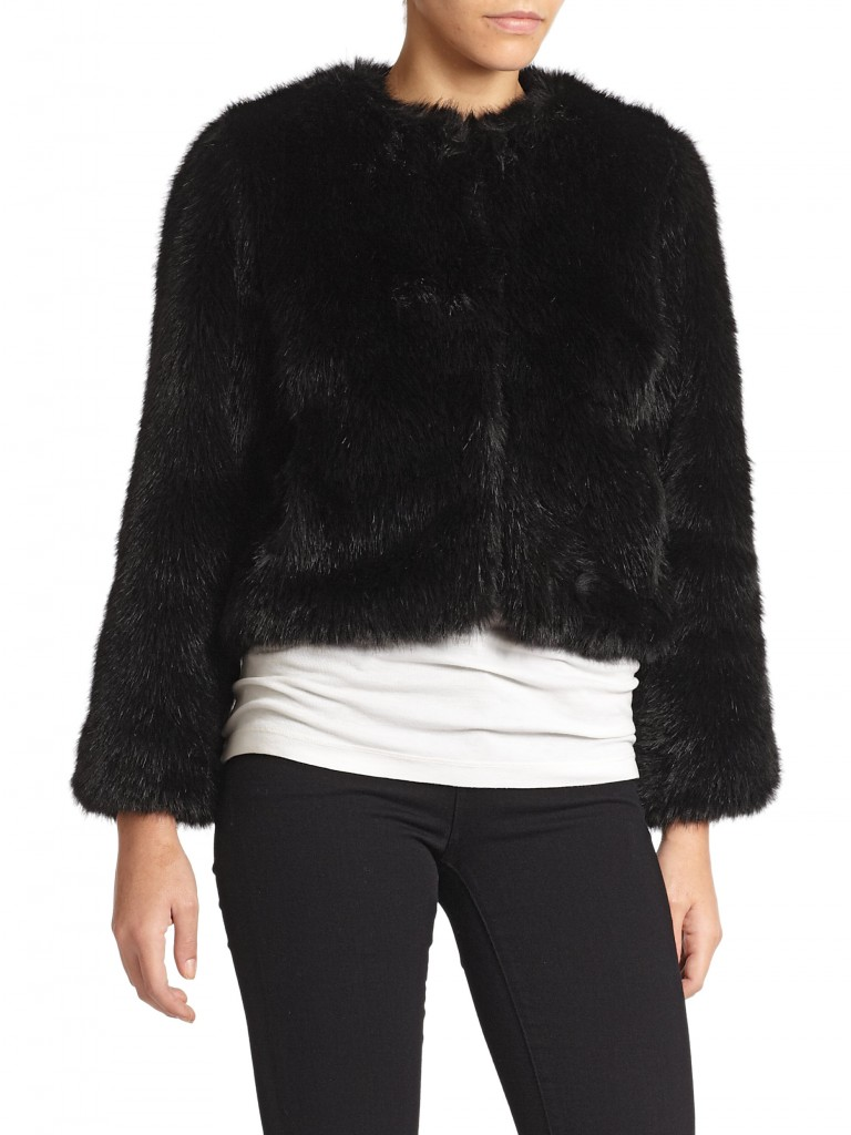 (Annabelle New York black faux fur jacket) Similar to ... The One That Got Away!