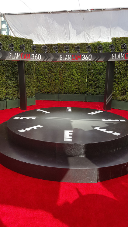 E! Channel's GlamCam from Behind the Scenes of the 2015 Emmy's