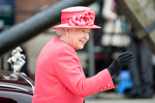 QUEEN ELIZABETH II PICTURED DURING A VISIT TO LIVERPOOL, ENGLAND. SHAUN JEFFERS/SHUTTERSTOCK.COM